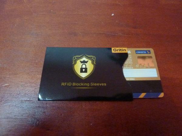 Funda anti copia RFID