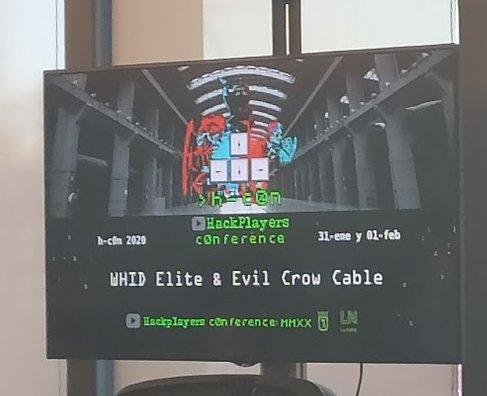 Joel Serna y WHID Elite y Evil Crow cable