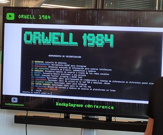 Orwell 1984 plataforma Osint