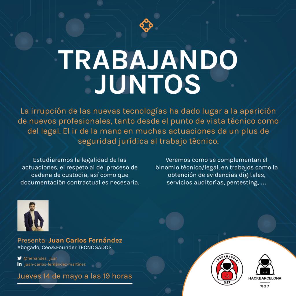 Trabajando juntos - Juan Carlos Fernández, Tecnogados